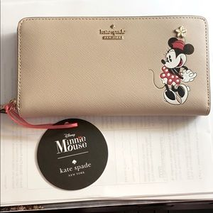 NWT Kate Spade Minnie Mouse wallet